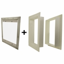 Gun Dog House Doors Easy Pet Door w/ PVC Wall Trim Kit