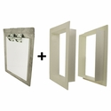 Gun Dog House Doors Heavy Duty Dog Door w/ PVC Wall Trim Kit