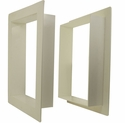 Gun Dog House Door PVC Wall Trim Kit for Big Dog Door / Easy Big Dog Door