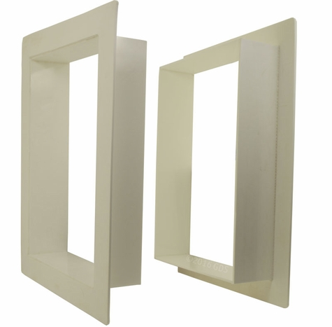 Gun Dog House Doors PVC Wall Trim Kit for Heavy Duty Dog Door / Easy Pet Door