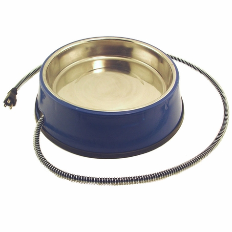 Heated 3 qt. Pet Bowl w/ Stainless Steel Insert by Farm Innovators
