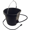 buy discount  Heated Rubber 18-Quart Flat-Back Bucket by Farm Innovators