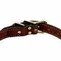 buy discount  Hunt Dog Leather Center-Ring Collar Buckle Inside Detail