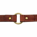 buy discount  Hunt Dog Leather Center-Ring Collar Inside Center Ring Detail