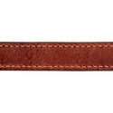 buy discount  Hunt Dog Leather Center-Ring Collar Inside Stitching Detail
