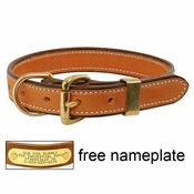 shop K-9 Komfort 1 in. Deluxe Leather D-end Collar