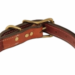 shop K-9 Komfort 1 in. Premium Deluxe Leather Center Ring Collar Back of Buckle Detail
