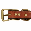 buy discount  K-9 Komfort 1 in. Premium Deluxe Leather Center Ring Collar Buckle Inside Detail