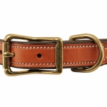 shop K-9 Komfort 1 in. Premium Deluxe Leather Center Ring Collar Front of Buckle Detail
