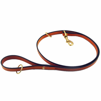 K-9 Komfort 6 ft. Bridle Leather Snap Lead