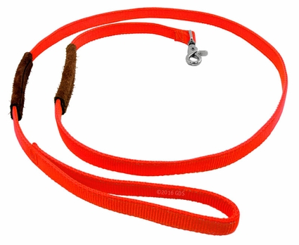 K-9 Komfort 1 in. x 6 ft. Nylon Lead with Leather Handle
