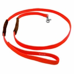 shop K-9 Komfort 1 in. x 6 ft. Nylon Lead with Leather Handle