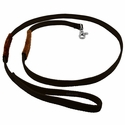 buy discount  K-9 Komfort 6 ft Nylon Lead with Leather Handle black