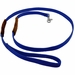 K-9 Komfort 6 ft Nylon Lead with Leather Handle Blue