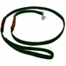 K-9 Komfort 6 ft Nylon Lead with Leather Handle Green
