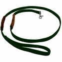 buy discount  K-9 Komfort 6 ft Nylon Lead with Leather Handle Green