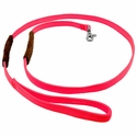 buy discount  K-9 Komfort 6 ft Nylon Lead with Leather Handle pink