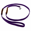 buy discount  K-9 Komfort 6 ft Nylon Lead with Leather Handle Purple