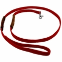 buy discount  K-9 Komfort 6 ft Nylon Lead with Leather Handle Red