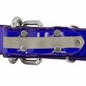 buy discount  1 1/2 in. Beaded Reflective Dee-End Dog Collar Back of Buckle Detail