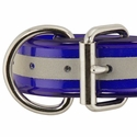 buy discount  1 1/2 in. Beaded Reflective Dee-End Dog Collar Front of Buckle Detail