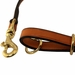 K-9 Komfort Bridle Leather Snap Lead Hardware Detail