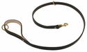 K-9 Komfort Premium Deluxe 3/4 in. x 4 1/2 ft. Leash -- Brown Latigo with Light Buffalo Lined Handle