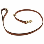 shop K-9 Komfort Premium Deluxe 3/4 in. x 4 1/2 ft. Leash -- Tan Skirting with Burgundy Latigo Lined Handle