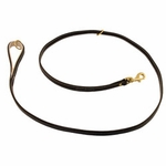 shop K-9 Komfort Premium Deluxe 3/4 in. x 6 1/2 ft. Leash -- Brown Latigo with Light Buffalo Lined Handle
