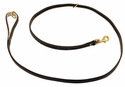 K-9 Komfort Premium Deluxe 3/4 in. x 6 1/2 ft. Leash -- Brown Latigo with Light Buffalo Lined Handle