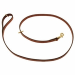 shop K-9 Komfort Premium Deluxe 3/4 in. x 6 1/2 ft. Leash -- Tan Skirting with Burgundy Latigo Lined Handle