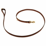shop K-9 Komfort Premium Deluxe 3/4 in. x 6 1/2 ft. Leash -- Tan Skirting with Dark Brown Buffalo Lined Handle