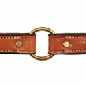 buy discount  K-Komfort 1 in. Premium Deluxe Leather Collar Outside Center Ring Detail