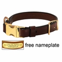 K-9 Komfort Quick Release 1 in. Leather Collar