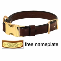 buy discount  K-9 Komfort Adjustable Quick Release 3/4 in. Leather Collar