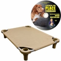 buy discount  Large 40 in. x 30 in. Rectangle Premium Weave Cot by 4Leggs4Pets