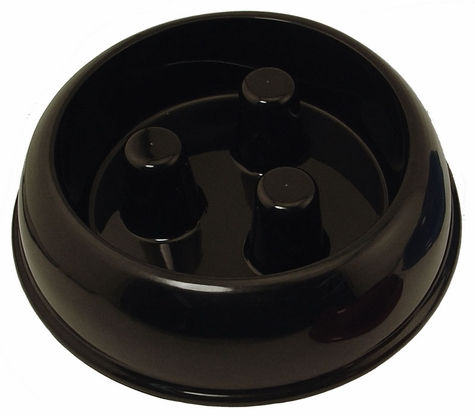 LARGE BLACK Plastic Brake-Fast Bowl