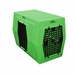 Large Double Door Left Side Entry Kennel Green