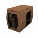 buy discount  Large Double Door Right Side Entry Kennel Tan