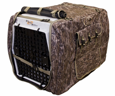 Large Extended Bottomland Camo Uninsulated Kennel Cover by Mud River