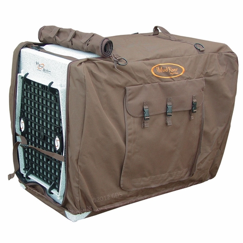 Large/Extended Brown Bedford Uninsulated Kennel Cover by Mud River