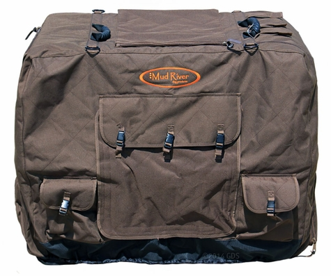 Large Extended Brown Dixie Insulated Kennel Cover by Mud River