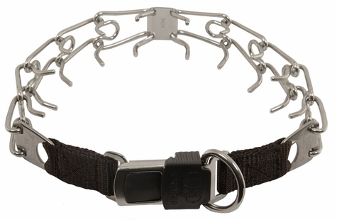 LARGE Herm Sprenger Stainless Steel Pinch Collar with Security Buckle #50007