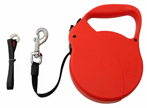 Large Red Flexi Explore Extra Long Retractable Tape Leash -- 26 ft.