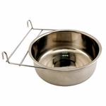 shop Large Stainless Steel Kennel Cup with Hanger -- approx 88 oz.