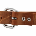 buy discount  1 in. Leather Center-Ring Collar Back of Buckle Detail