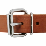 shop 1 in. Leather Center-Ring Collar Front of Buckle Detail