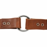 shop 1 in. Leather Center-Ring Collar Inside of Ring Detail