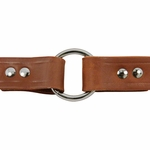 shop 1 in. Leather Center-Ring Collar Outside of Ring Detail