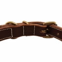 buy discount  Leather Center Ring Dog Collar Back of Buckle Detail